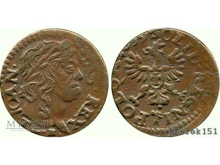 szeląg koronny 1659 1