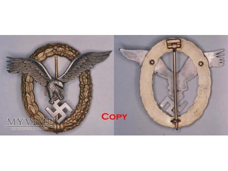 Odznaka Pilot - Nawigator, Pilot - Observer Badge