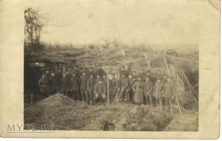 Karta-fotografia żołnierze pruscy