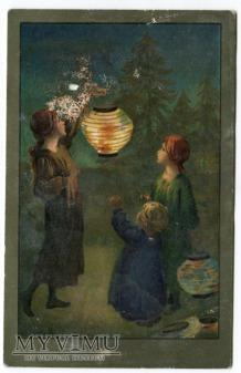 Sybil Barham Dzieci z lampionami Zniszczona
