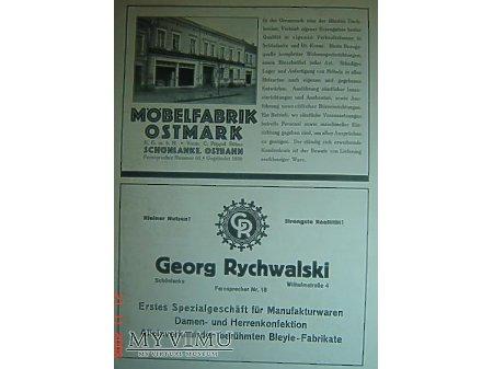 Przewodnik o Trzciance z 1930r.Reklama#7