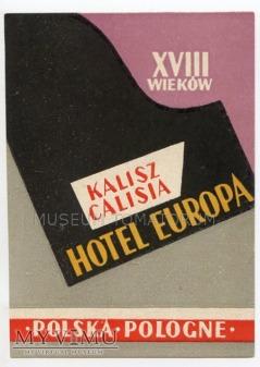 Nalepka hotelowa - Kalisz - Hotel Europa