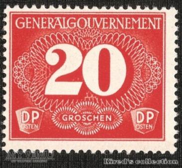 Postgebührenmarke 20 groszy