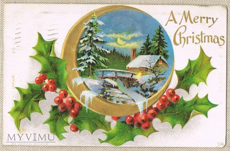 A mery Christmas 1909 rok