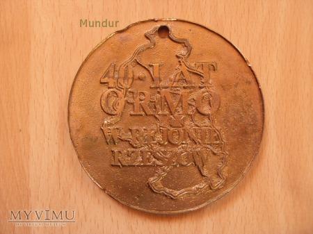 Medal pamiątkowy 40 lat ORMO w Rzeszowie