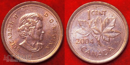 Kanada, 1 CENT 2004 (destrukt)