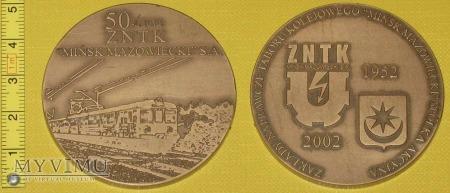 Medal kolejowy - firmowy ZNTK Mińsk Maz.