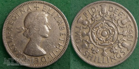 Wielka Brytania, 2 SHILLINGS 1963