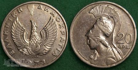 Grecja, 20 Drachm 1973