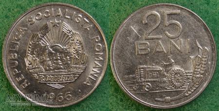 Rumunia, 25 Bani 1966