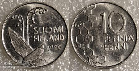 Finlandia, 10 PENNI 1990