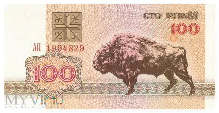 Białoruś - 100 rubli (1992)