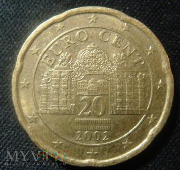 Duże zdjęcie 20 centów Austria 2002