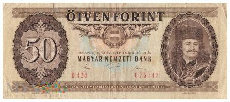 Węgry - 50 forintów (1980)