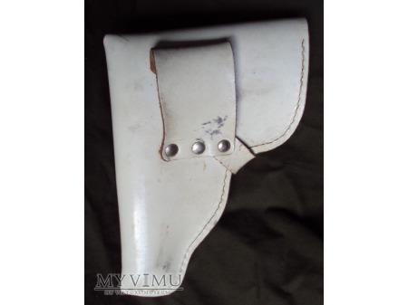 Skórzana kabura DDR - biała
