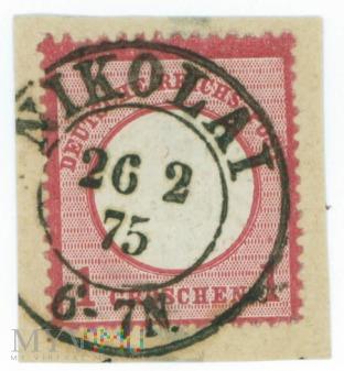 Duże zdjęcie Znaczek 1 grosz- 1875