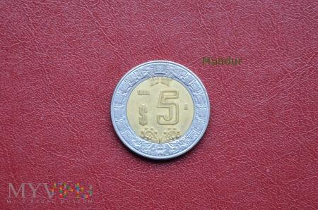 Moneta meksykańska: 5 pesos