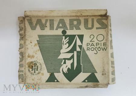 Papierosy WIARUS PMT - pudełko 1939 r.
