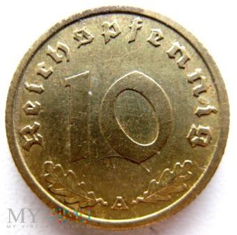 Duże zdjęcie 10 reichspfennigów 1939 Niemcy (Trzecia Rzesza)