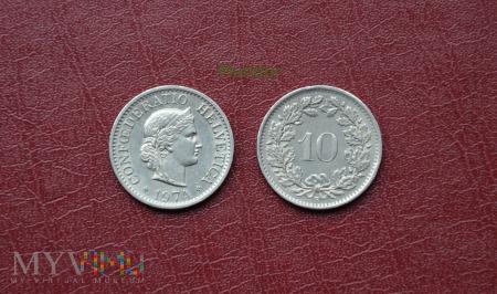 Moneta szwajcarska: 10 rappen