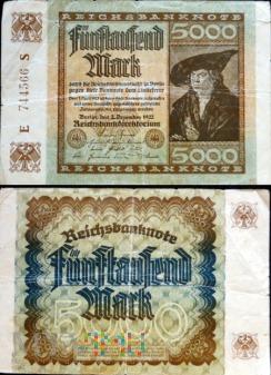Niemcy, 5000 marek 1922