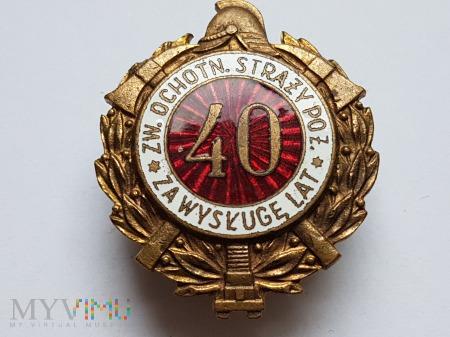 Odznaka Za Wysługę 40 Lat Jednoczęściowa Wypukła