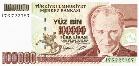 Turcja - 100 000 lir (2001)