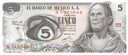 Meksyk - 5 pesos (1972)