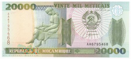 Mozambik - 20 000 meticali (1999)