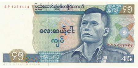 Birma - 45 kiatów (1987)