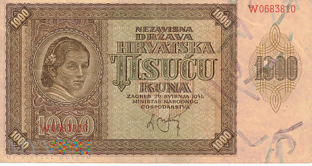 Chorwacja - 1 000 kun (1941)