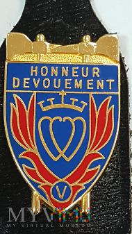 Odznaka SAPEURS POMPIERS HONNEUR DEVOUEMENT