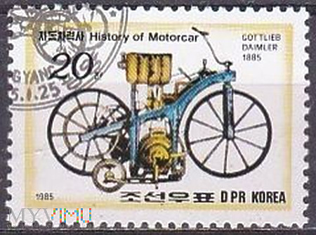 Motorcycle of Gottlieb Daimler, in 1885