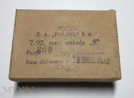 Pudełko na amunicję 7.92. mm. ,,POCISK'' S.A.