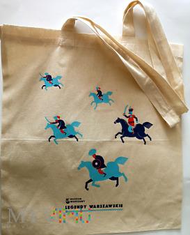 lniana torba z Muzeum Warszawy z motywami koni
