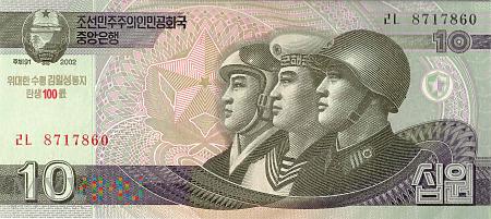 Korea Północna - 10 wonów (2012)
