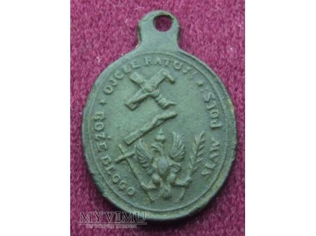 Stary patriotyczny medalik z 1861 r.