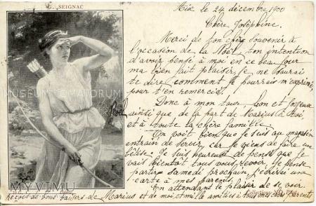 G. Seignac - Diana na polowaniu