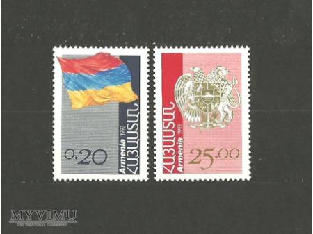 Armeńska flaga.
