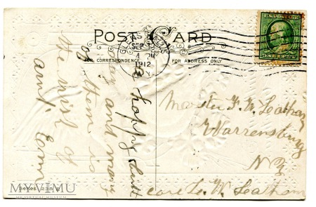 1912 Ptaszki i życzenia urodzinowe pocztówka