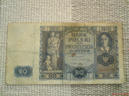 20 złotych 1936 r.