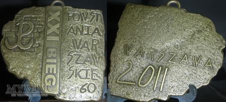 Duże zdjęcie 082. Medal XXI Bieg Powstania Warszawskiego 2011