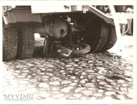 Wypadek drogowy -seria zdjęć -Mińsk Mazowiecki.