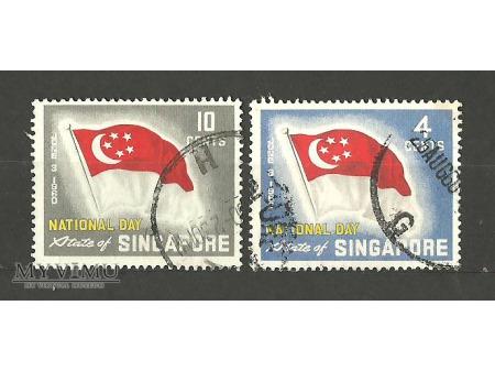 Duże zdjęcie Singapurska flaga.