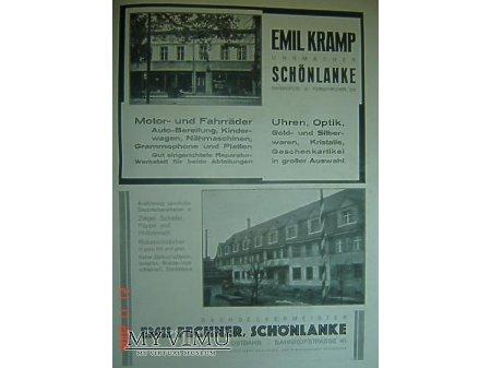Przewodnik o Trzciance z 1930r.Reklama#8