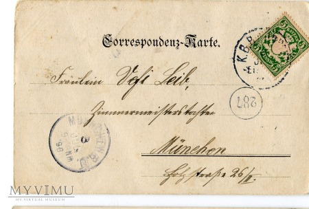 1898 Secesyjna Dama Art Nouveau postcard