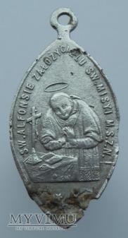 Św. Alfons i Chrystus na krzyżu