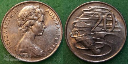Australia, 20 centów 1982