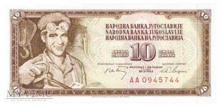Jugosławia - 10 dinarów (1968)