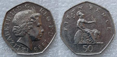 Wielka Brytania, 50 pence 1999